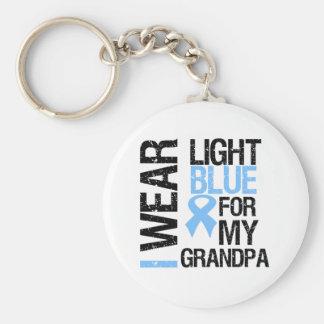 Abuelo azul claro de la cinta del cáncer de prósta llavero