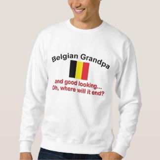 Abuelo belga apuesto sudadera con capucha