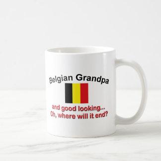 Abuelo belga apuesto taza