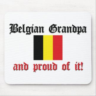 Abuelo belga orgulloso alfombrilla de raton