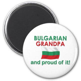 Abuelo búlgaro orgulloso imán redondo 5 cm