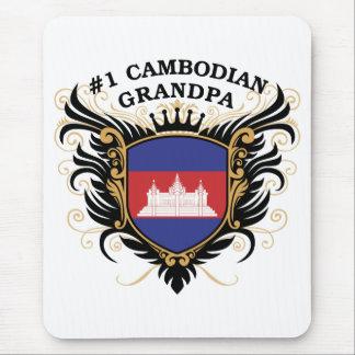 Abuelo camboyano del número uno tapete de ratones