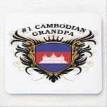 Abuelo camboyano del número uno alfombrilla de raton