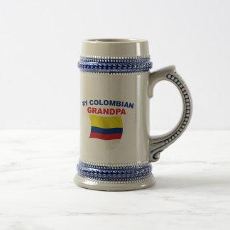 Abuelo colombiano #1 jarra de cerveza