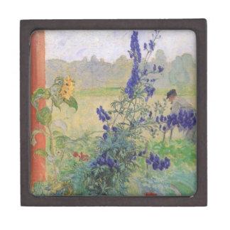 Abuelo con las flores 1909 caja de recuerdo de calidad