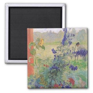 Abuelo con las flores 1909 imanes