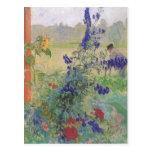 Abuelo con las flores 1909 tarjeta postal