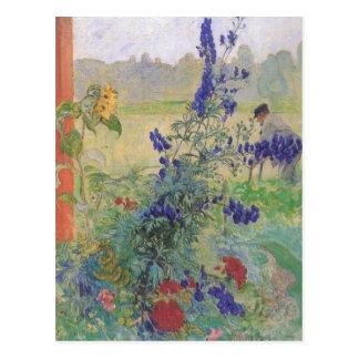 Abuelo con las flores 1909 postal