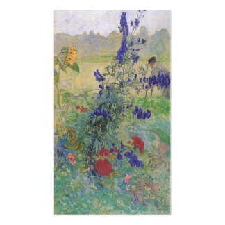 Abuelo con las flores 1909 tarjetas de visita
