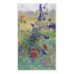 Abuelo con las flores 1909 tarjetas personales