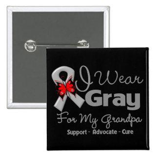 Abuelo - conciencia gris de la cinta pins