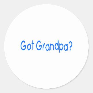 ¿Abuelo conseguido? Etiquetas Redondas