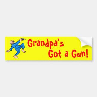 ¡Abuelo conseguido un arma! Pegatina Para Auto
