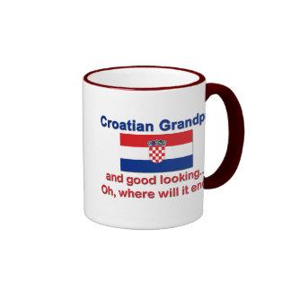 Abuelo croata apuesto taza de café
