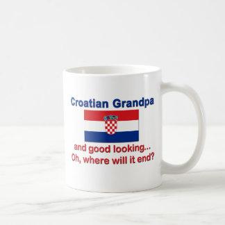 Abuelo croata apuesto tazas
