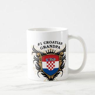 Abuelo croata del número uno tazas