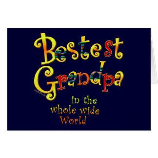 Abuelo de Bestest en el mundo ancho del conjunto Tarjeta