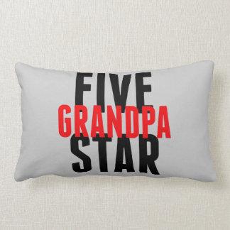Abuelo de cinco estrellas cojín lumbar