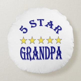 Abuelo de cinco estrellas cojín redondo