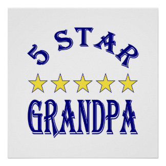 Abuelo de cinco estrellas póster