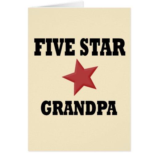 ABUELO de cinco estrellas Tarjeta De Felicitación