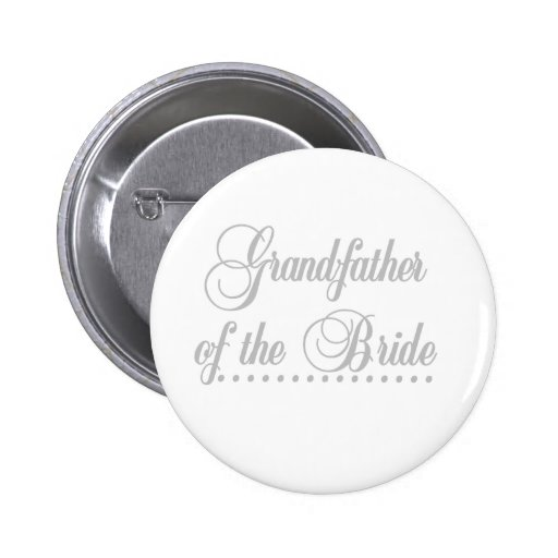 Abuelo de la elegancia del gris de la novia pin
