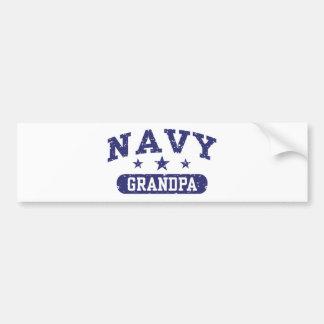 Abuelo de la marina de guerra etiqueta de parachoque