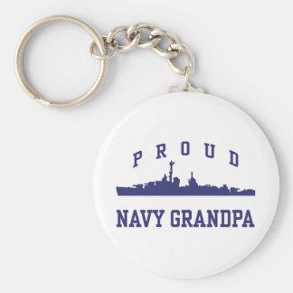 Abuelo de la marina de guerra llaveros personalizados