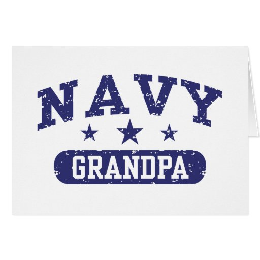 Abuelo de la marina de guerra tarjeta de felicitación