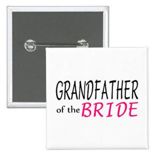 Abuelo de la novia pin cuadrado