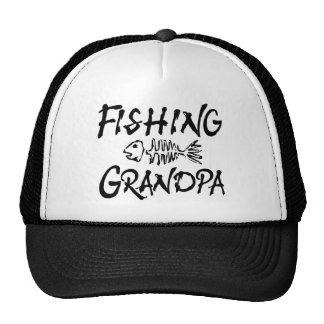 Abuelo de la pesca gorras