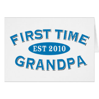 Abuelo de la primera vez tarjeta de felicitación