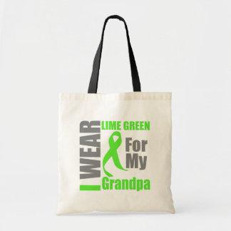 Abuelo de la verde lima del desgaste del linfoma I Bolsa Tela Barata