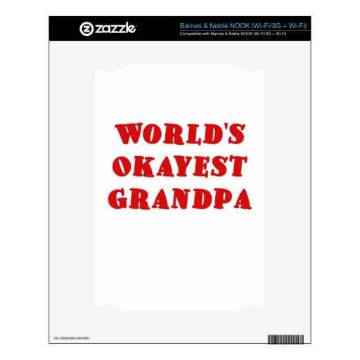 Abuelo de Okayest de los mundos NOOK Calcomanías