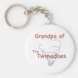 Abuelo de Twinadoes Llavero Redondo Tipo Pin