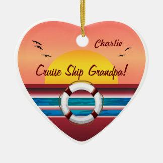 Abuelo del barco de cruceros - corazón ornamentos de reyes