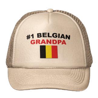 Abuelo del belga #1 gorras