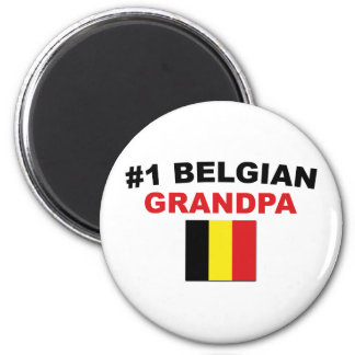 Abuelo del belga #1 imán redondo 5 cm