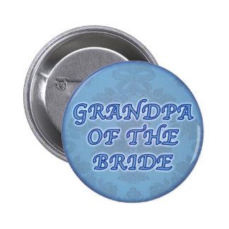 Abuelo del botón de la novia pin redondo de 2 pulgadas