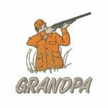 Abuelo del cazador del juego y de los ciervos pers sudadera con capucha