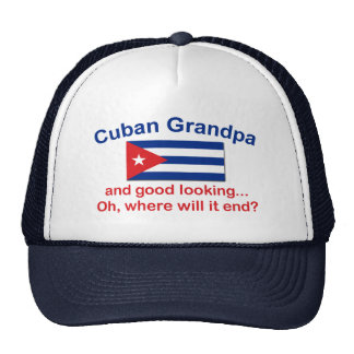 Abuelo del cubano de Gd Lkg Gorros Bordados