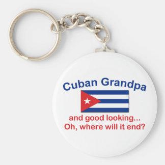 Abuelo del cubano de Gd Lkg Llavero Redondo Tipo Pin