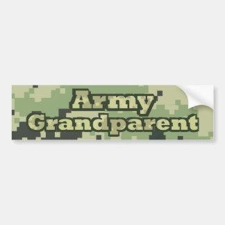 Abuelo del ejército pegatina para auto