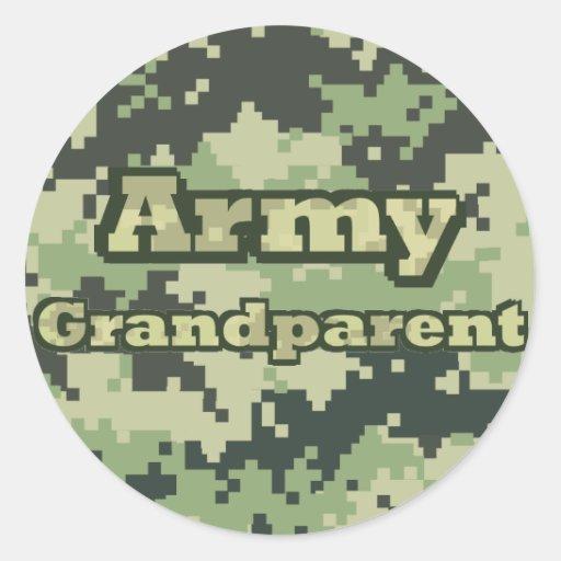 Abuelo del ejército pegatina redonda