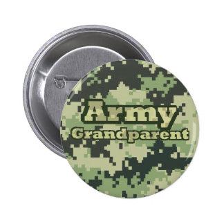Abuelo del ejército pin redondo de 2 pulgadas