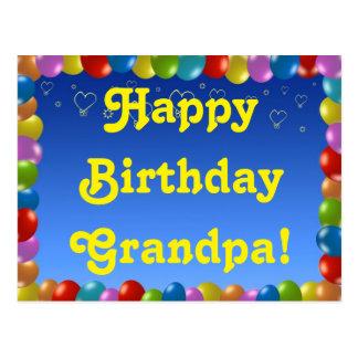 Abuelo del feliz cumpleaños de la postal