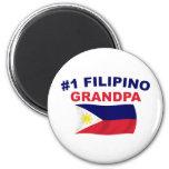 Abuelo del filipino #1 imán redondo 5 cm