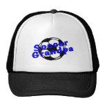 Abuelo del fútbol (azul) gorras