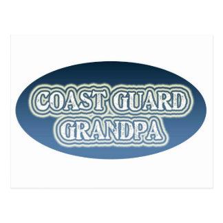 Abuelo del guardacostas tarjeta postal