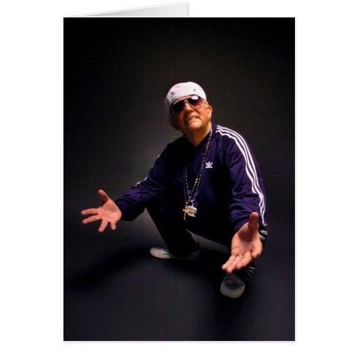 Abuelo del hip-hop tarjetas